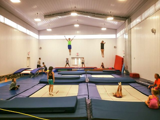Campers at gymanstics